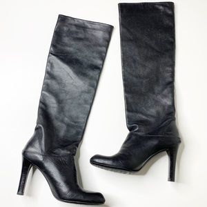 Stuart Weitzman knee high leather heeled boots